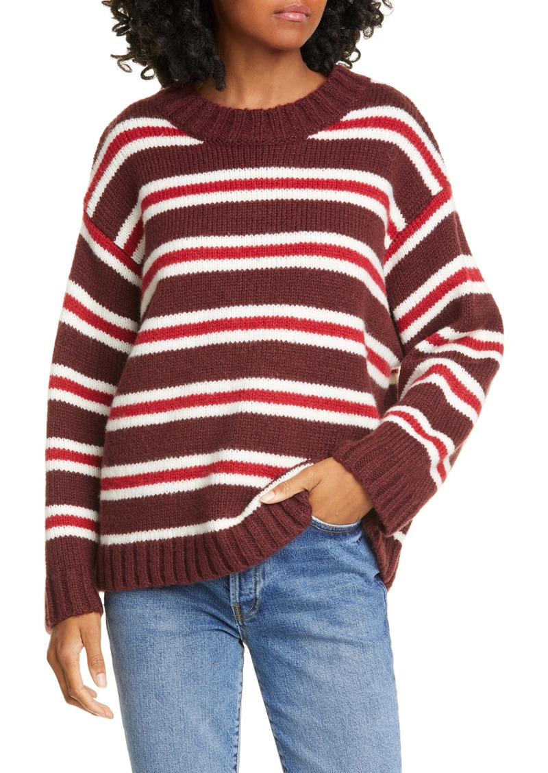 THE GREAT. Cozy Crew Sweater
