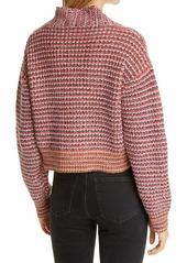 THE GREAT. Montana Cropped Cotton Blend Cardigan