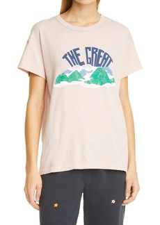 THE GREAT. Mountain Side The Boxy Crew Graphic Tee