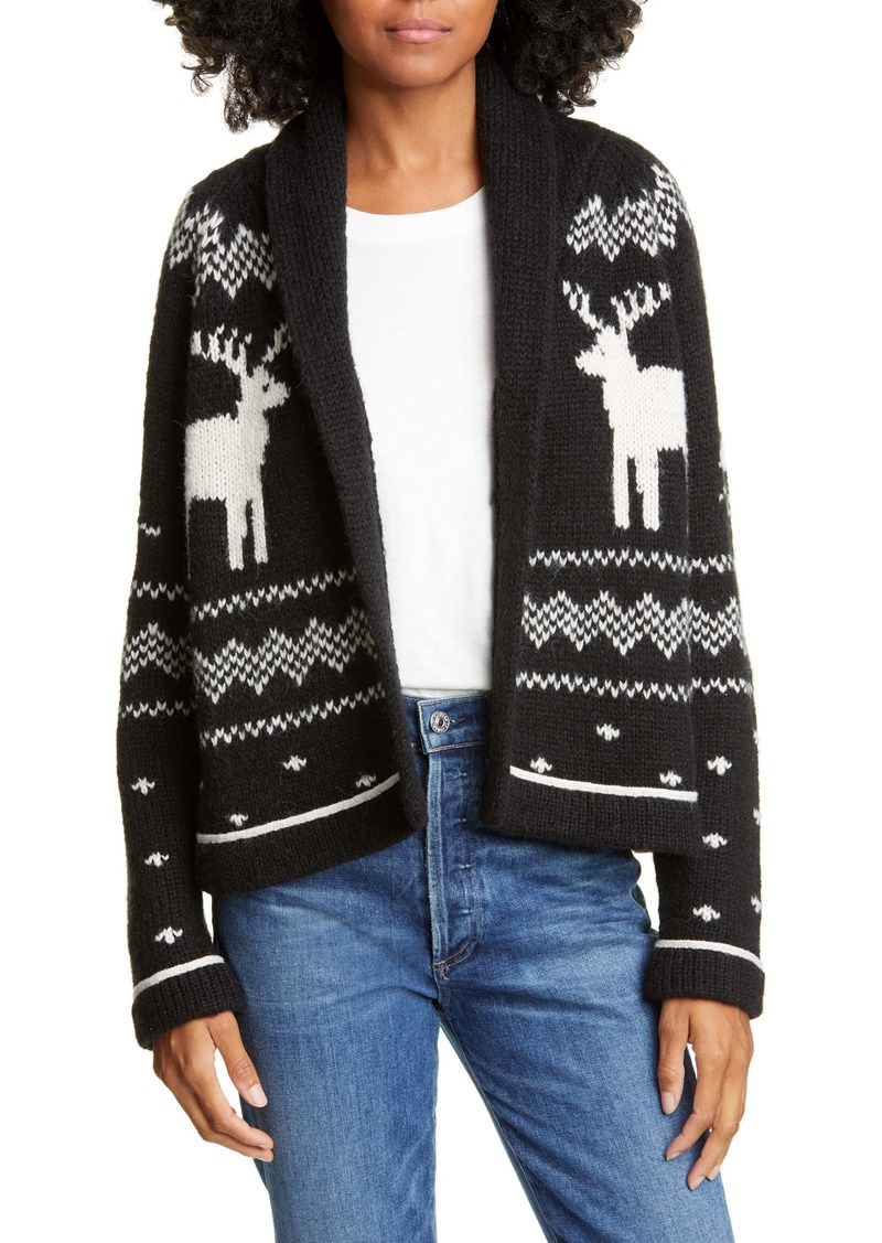 THE GREAT. Reindeer Lodge Cardigan
