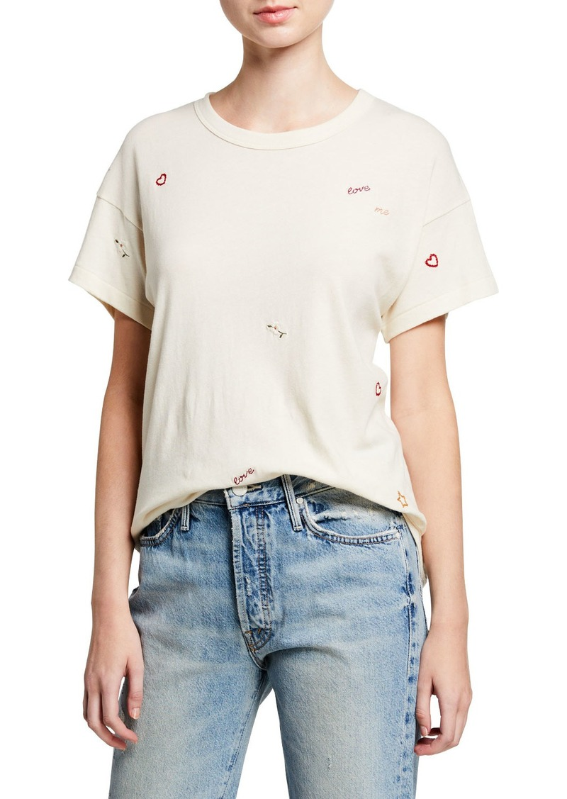 The Great The Boxy Crew Embroidered Tee