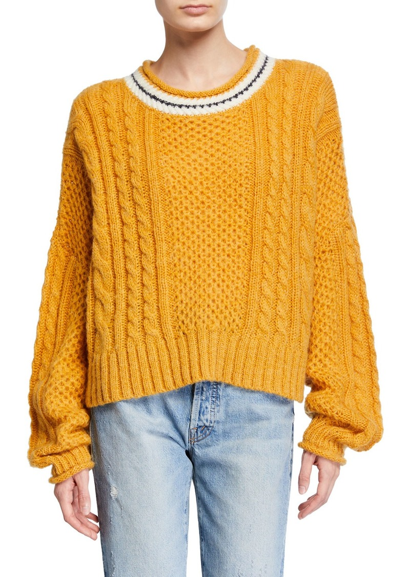 The Great The Cable Roll Pullover Sweater