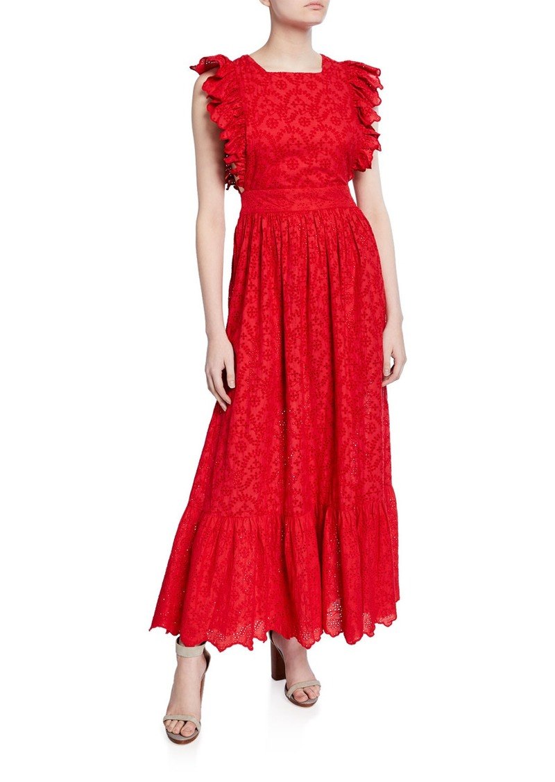 The Great The Eyelet Apron Long Dress