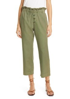 THE GREAT. The Eyelet Gunny Sack Paperbag Waist Trousers