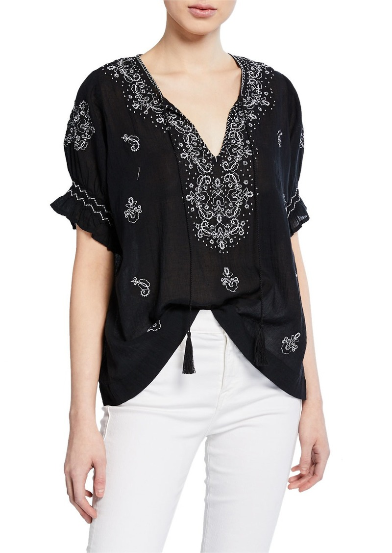 The Great The Mercantile Embroidered Top