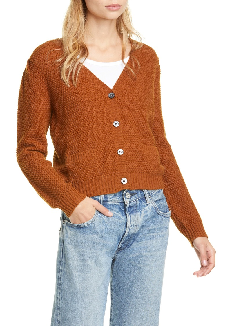 THE GREAT. The Puff Sleeve Wool Blend Cardigan