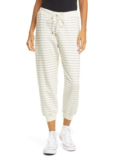 THE GREAT. The Swiss Dot Crop Sweatpants