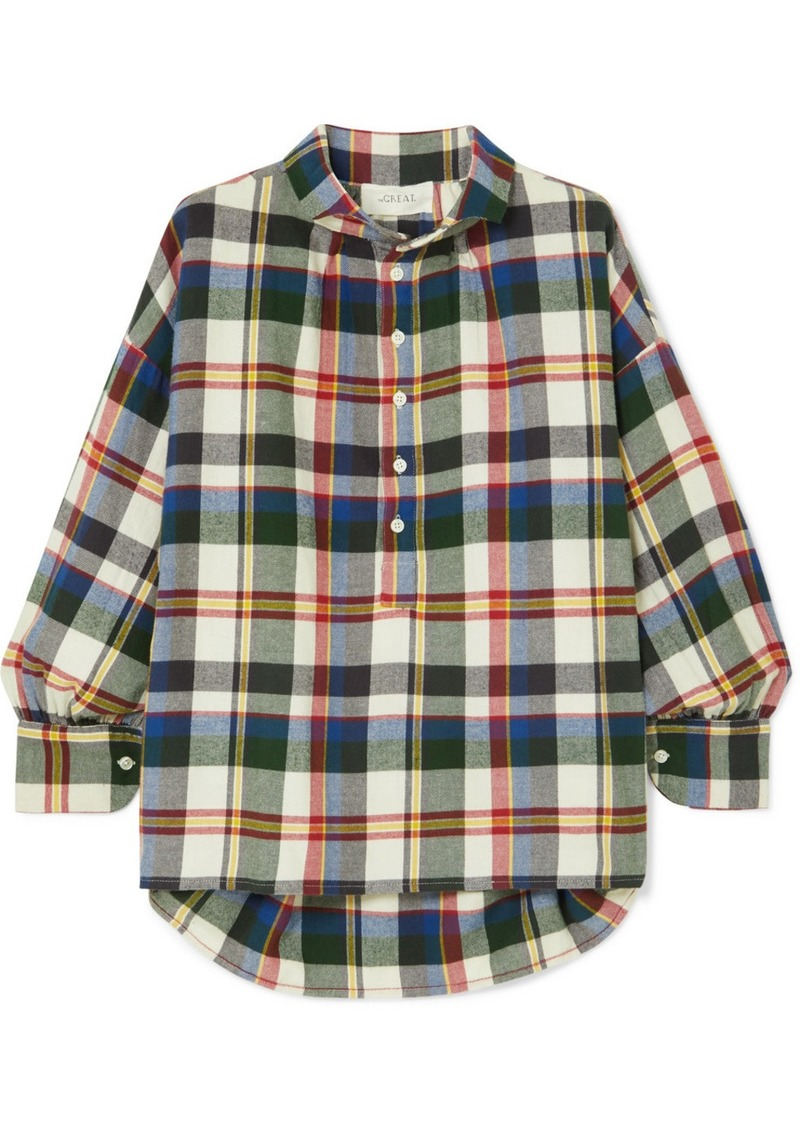 The Great The Painter's Smock Checked Cotton-flannel Shirt