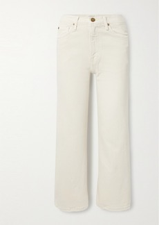 The Great The Riderette Cropped High-rise Wide-leg Jeans