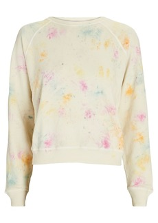 The Great The Shrunken Tie-Dye Cotton Sweatshirt
