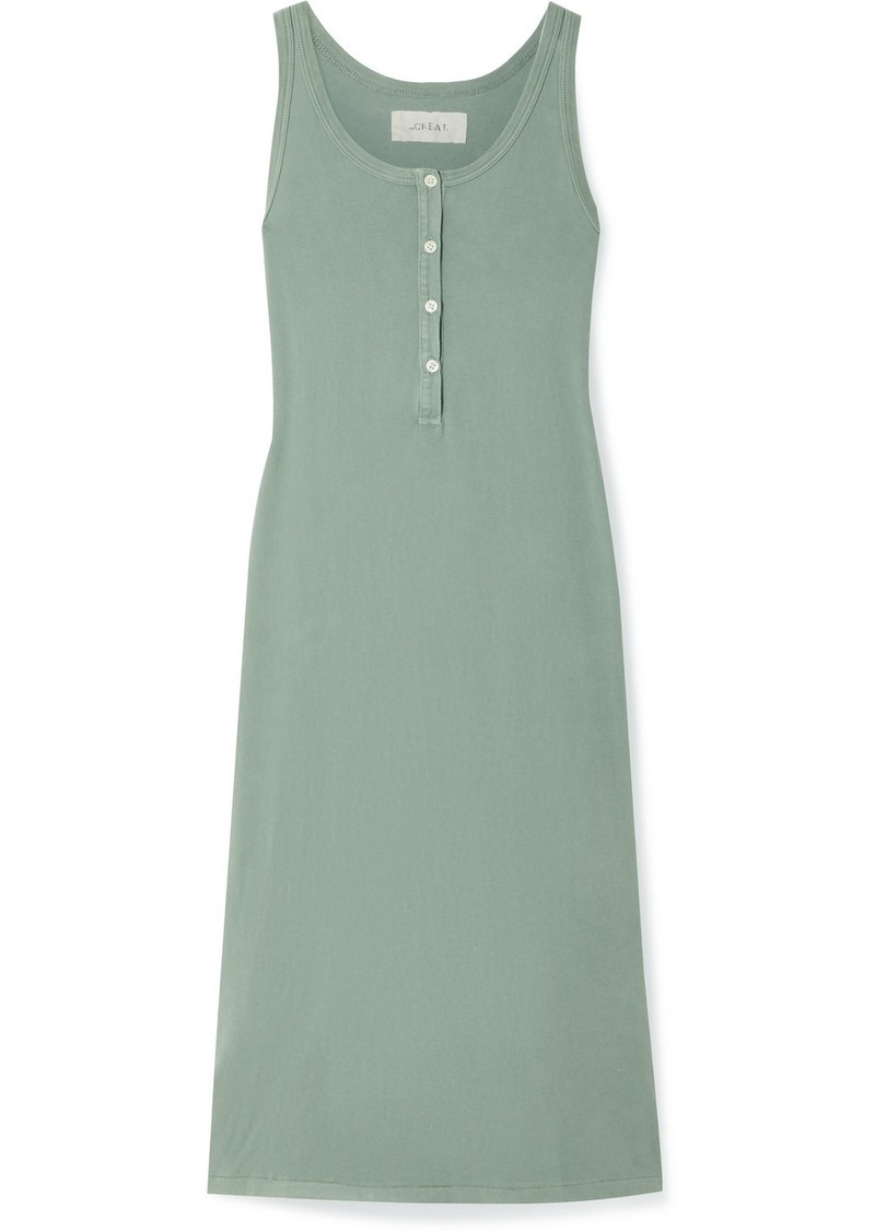 The Great The Slim Henley Cotton-jersey Dress