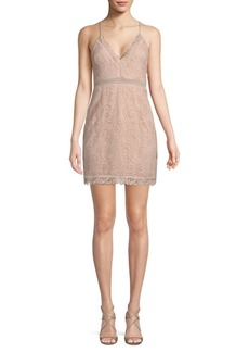 The Jetset Diaries Hyacinth Paisley Lace Mini Dress