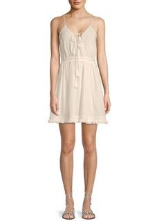 The Jetset Diaries Lace-Up Cotton Dress