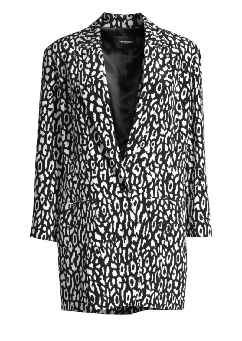 The Kooples Animal Printed Blazer