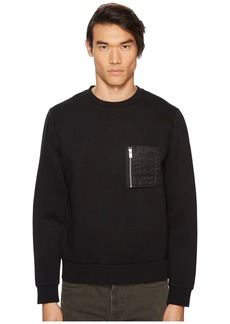 The Kooples Athletic Sweatshirt w/ Leather Details