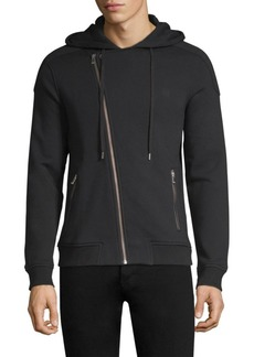 The Kooples Biker-Cut Cotton Sweatshirt