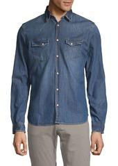 The Kooples Classic Denim Button-Down Shirt