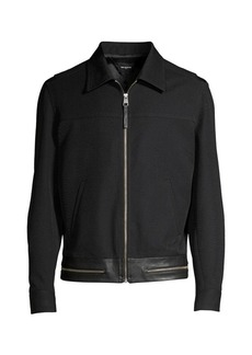 The Kooples Collared Zip-Up Jacket