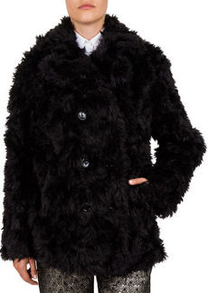 The Kooples Faux-Fur Double-Breasted Coat