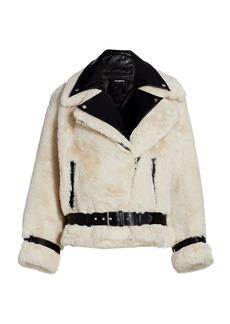 The Kooples Faux Fur Moto Jacket