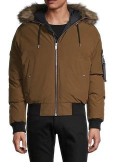 The Kooples Faux Fur-Trim Hooded Jacket