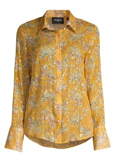 The Kooples Floral Button-Down Blouse