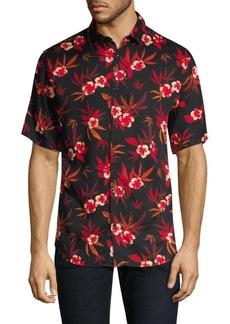 The Kooples Floral Camp Shirt