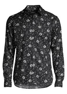 The Kooples Floral Cotton Sport Shirt