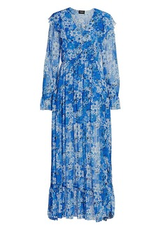 The Kooples Floral Georgette Maxi Dress