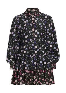 The Kooples Floral Long-Sleeve Dress