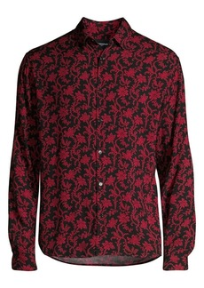 The Kooples Floral Long-Sleeve Shirt