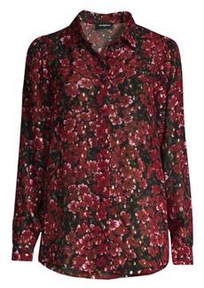 The Kooples Floral Metallic Shirt
