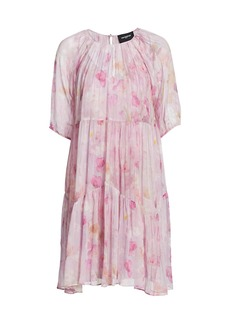 The Kooples Floral-Print Semi-Sheer Dress