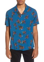 The Kooples Floral Short Sleeve Button-Up Camp Shirt