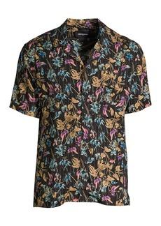 The Kooples Floral Short-Sleeve Shirt