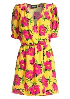 The Kooples Floral Silk A-Line Wrap Dress
