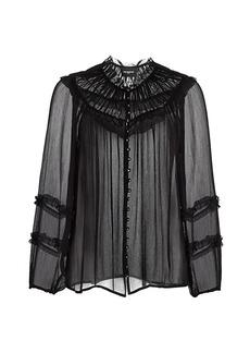 The Kooples Georgette Long-Sleeve Blouse