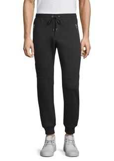 The Kooples Knee-Patch Cotton Sweatpants
