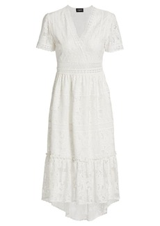 The Kooples Lacey Short-Sleeve Midi Dress
