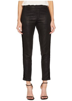 The Kooples Leather Effect Sport Pants with Zip