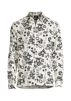 The Kooples Long-Sleeve Floral-Print Shirt