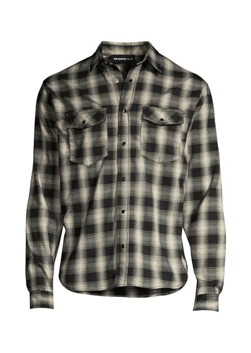 The Kooples Long-Sleeve Plaid Shirt