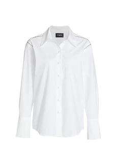 The Kooples Long-Sleeve Studded Shirt