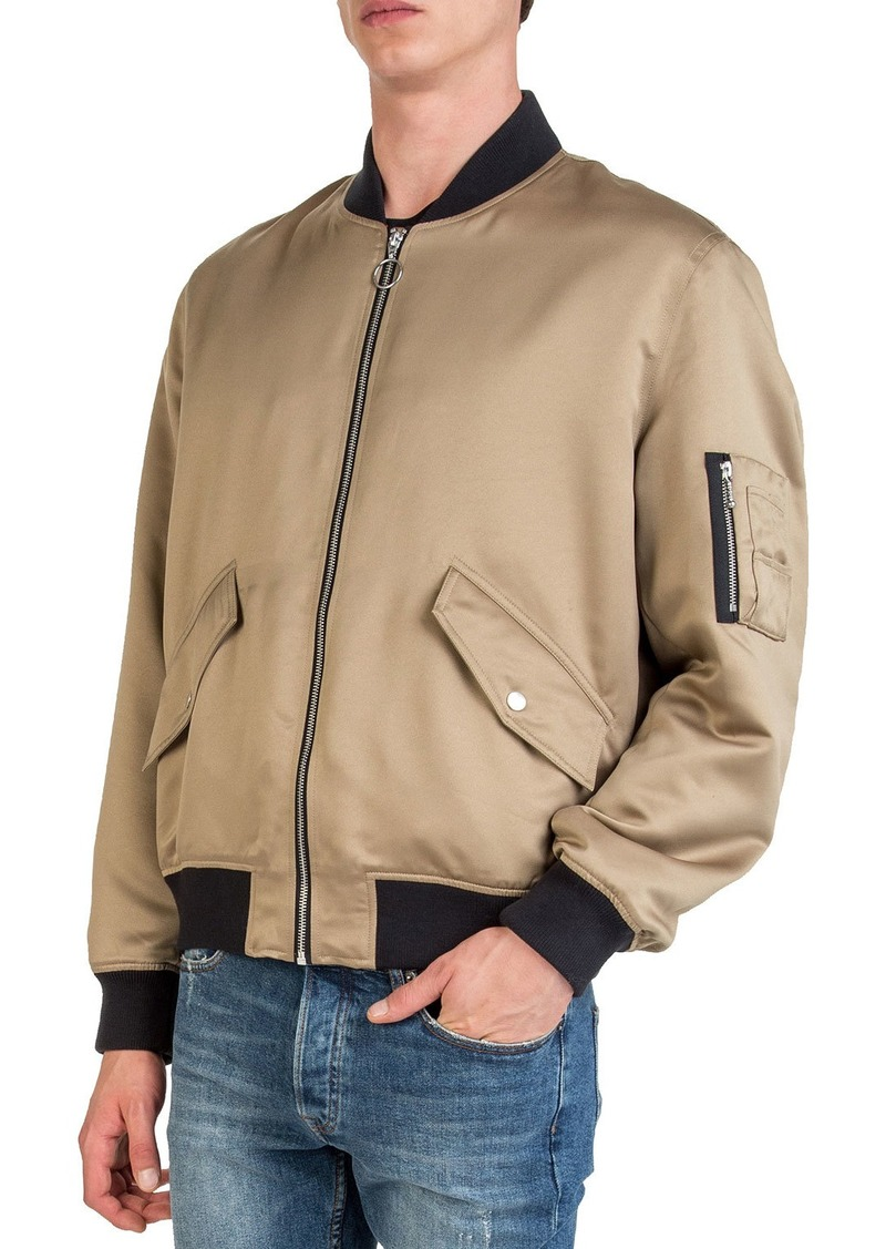 The Kooples Men's Satin Varsity Jacket