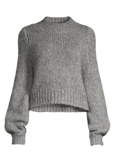 The Kooples Merino Wool-Blend Crewneck Sweater