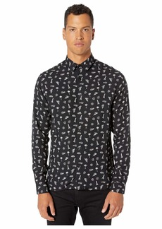 The Kooples Mixed Print Button Down Shirt