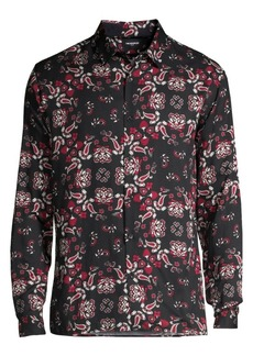 The Kooples Paisley Long-Sleeve Shirt
