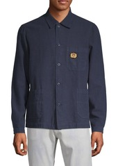 The Kooples Patched Button-Down Shirt