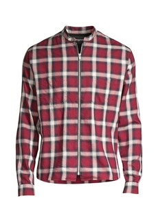 The Kooples Plaid Zip-Front Shirt