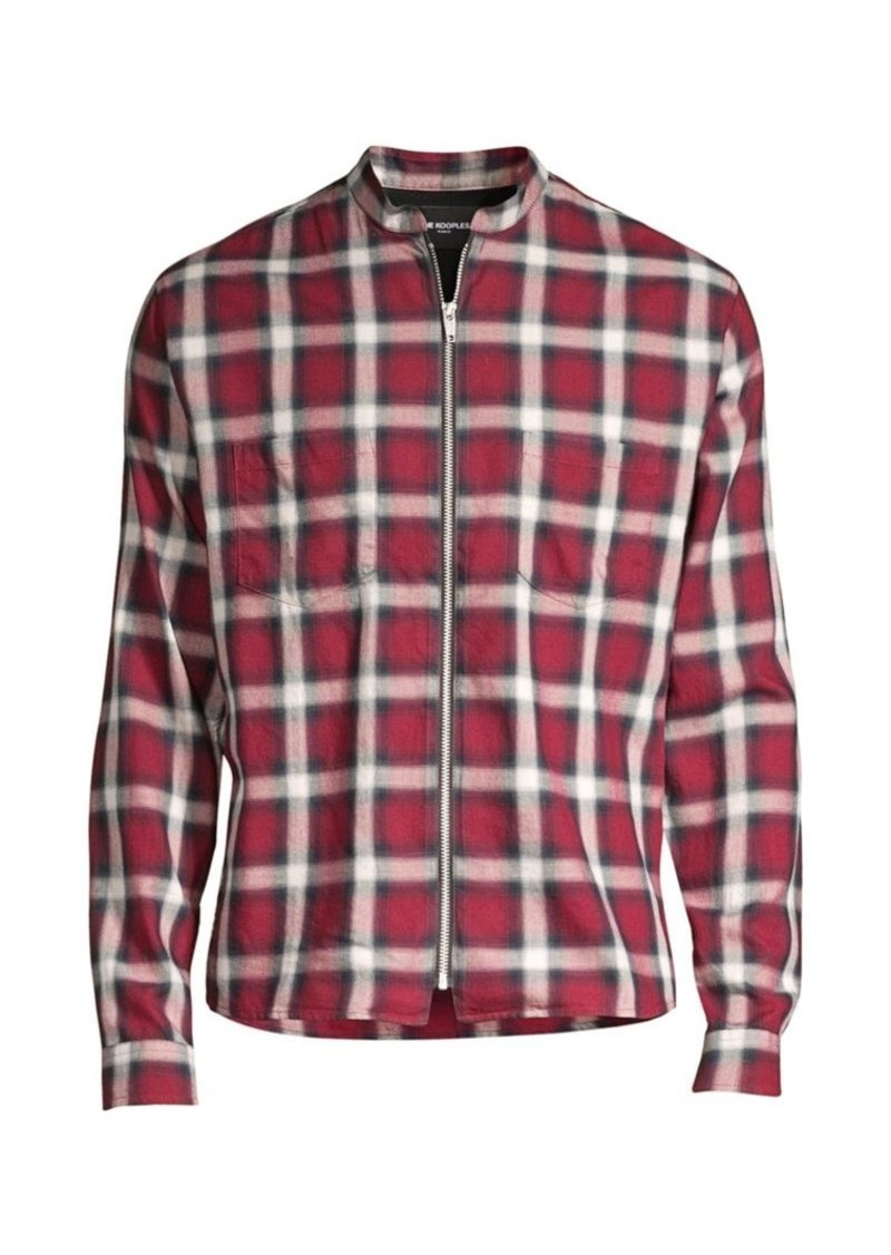 The Kooples Plaid Zip-Front Shirt